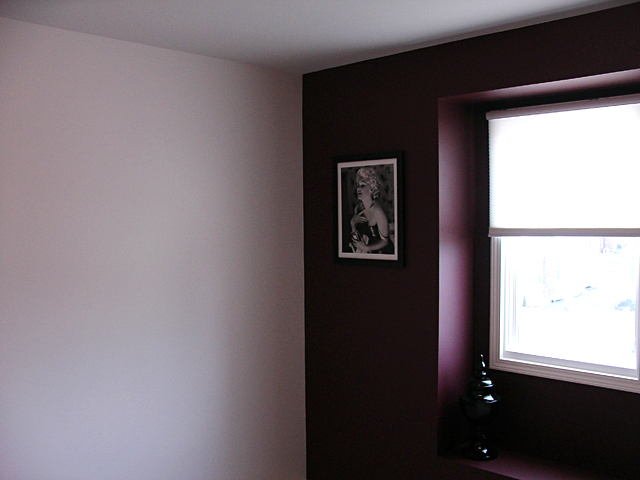 Accent wall painting job