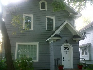 Picture of the front of the completed exterior home painting project